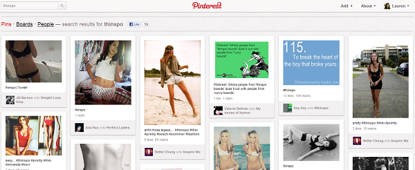 Pinterest-anorexia