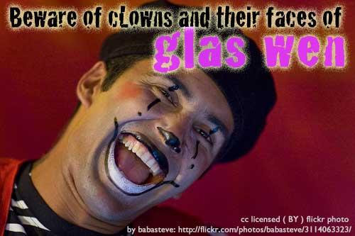 Clowns-glas-wen