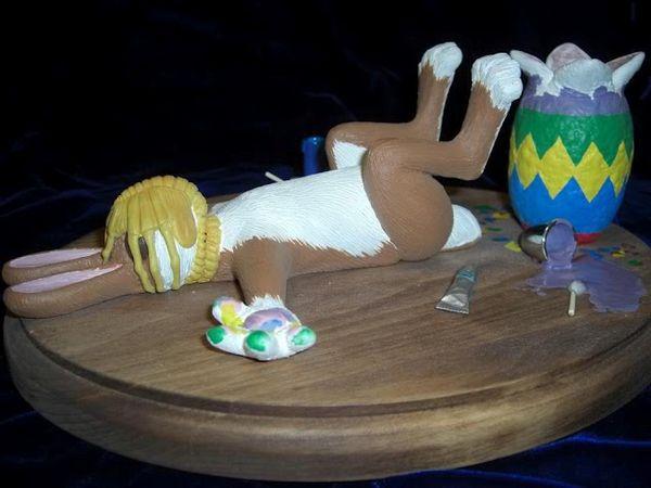 Easter bunny facehugger