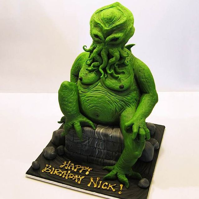 Chthulhu birthday cakewreck