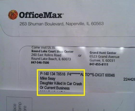Mail death officemax