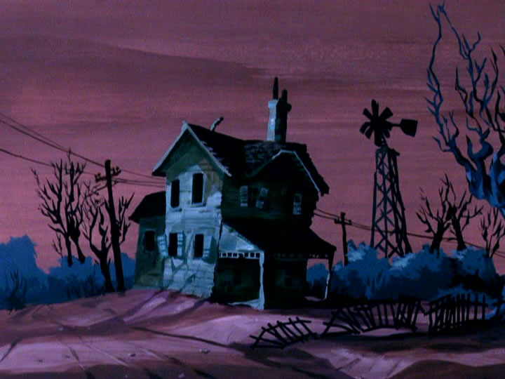 Scooby-doo background house sunset