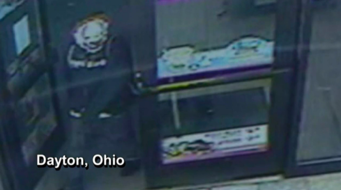 Clown robber Ohio NBC