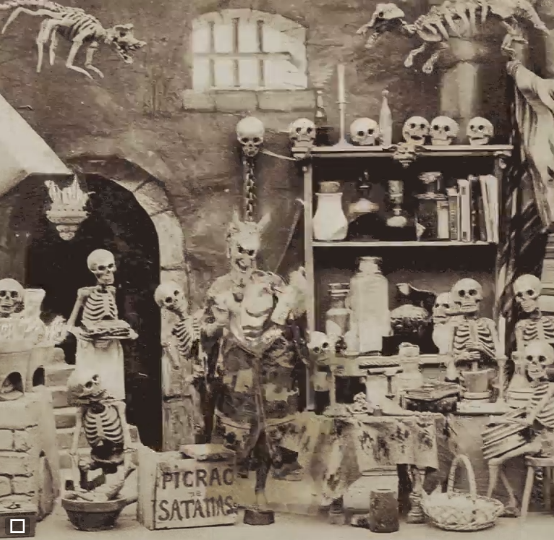 1860s French Stereoscopic card - The Laboratory of Satan