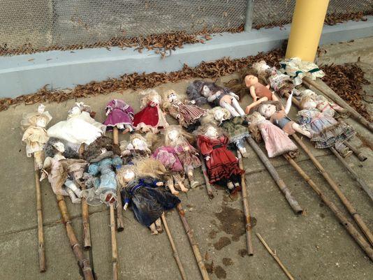 Creepy dolls Alabama swamp