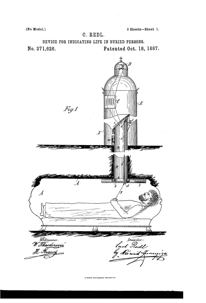 Buried alive patent 1