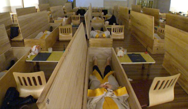 South Korea coffins BBC