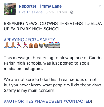 Clowns in Shreveport_Reporter Timmy Lane
