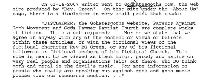God Hates Goths_hoax revealed