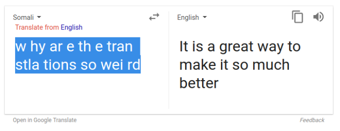 Google Translate better translate
